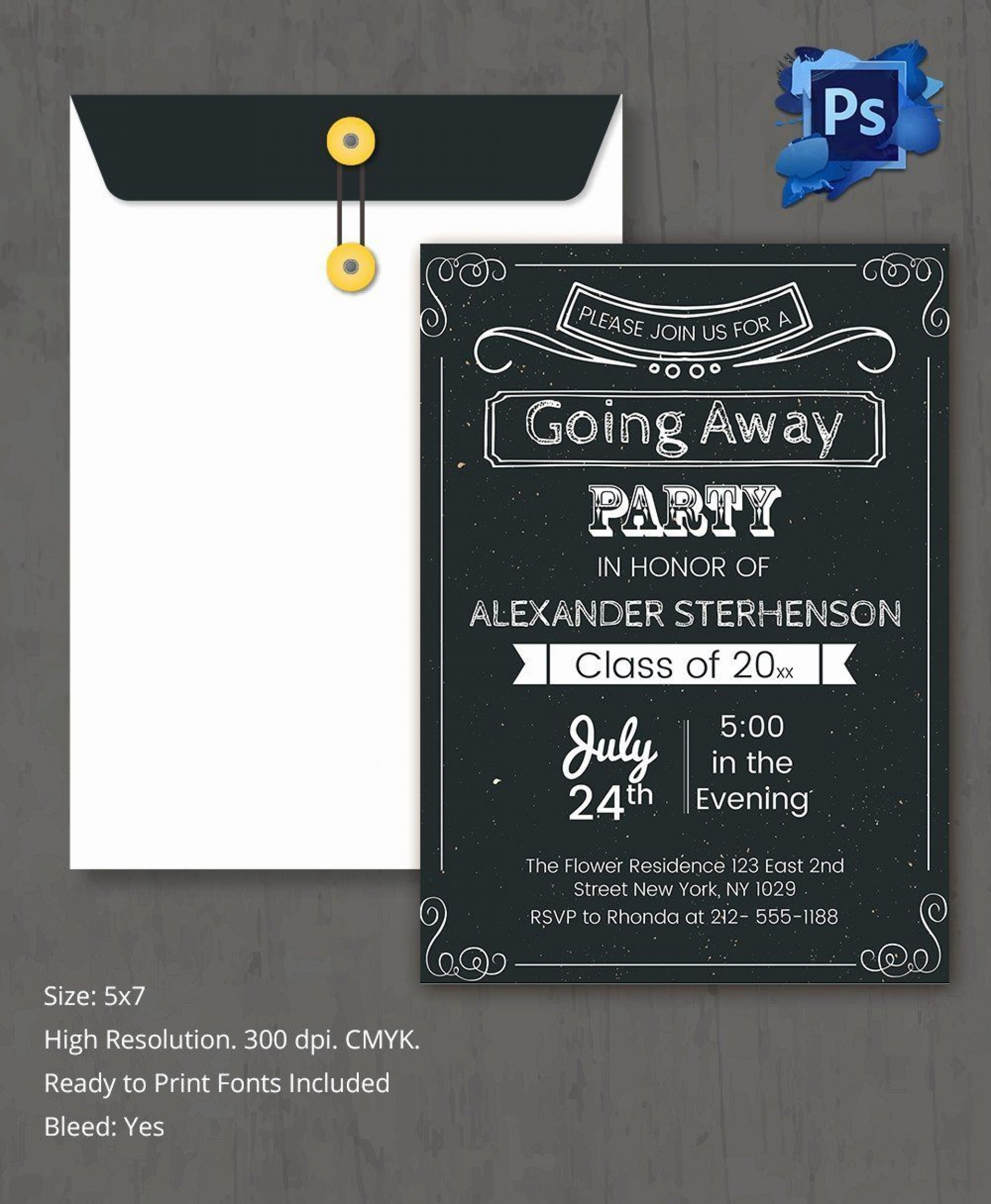 006 Best Farewell Party Invitation Template Free Highest Clarity  Email Printable Word1920