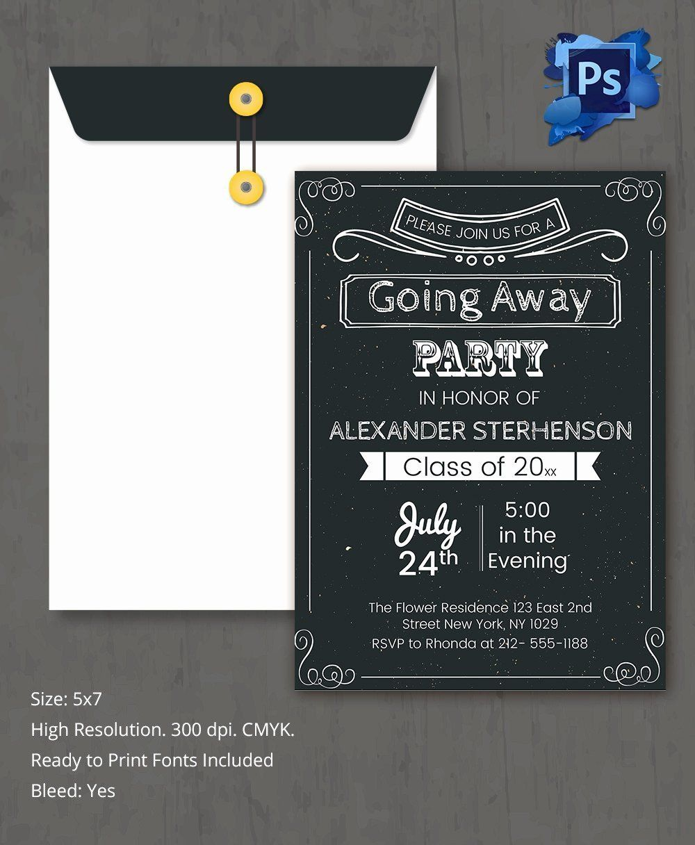 006 Best Farewell Party Invitation Template Free Highest Clarity  Email Printable WordFull