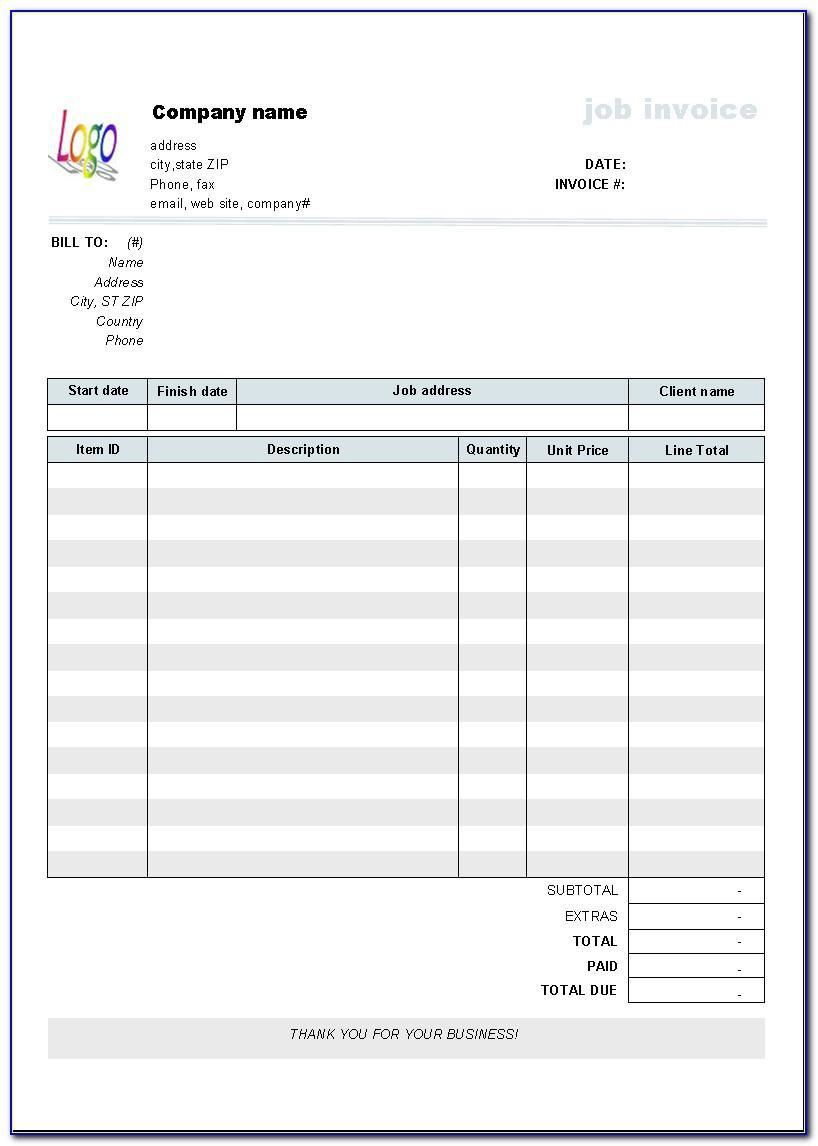 006 Best Free Blank Invoice Template Excel Concept  Download DownloadableFull