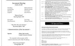 006 Best Free Church Program Template Inspiration  Printable Anniversary Doc