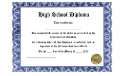 006 Best Free Printable High School Diploma Template Picture  With Seal