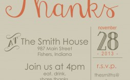 006 Best Free Thanksgiving Invitation Template Highest Quality  Templates Printable Dinner Download Potluck