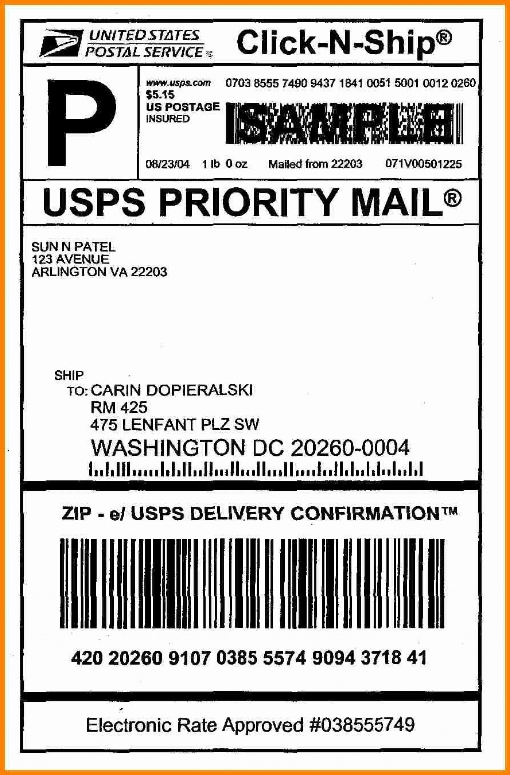 006 Best Free Usp Shipping Label Template Highest Clarity Large
