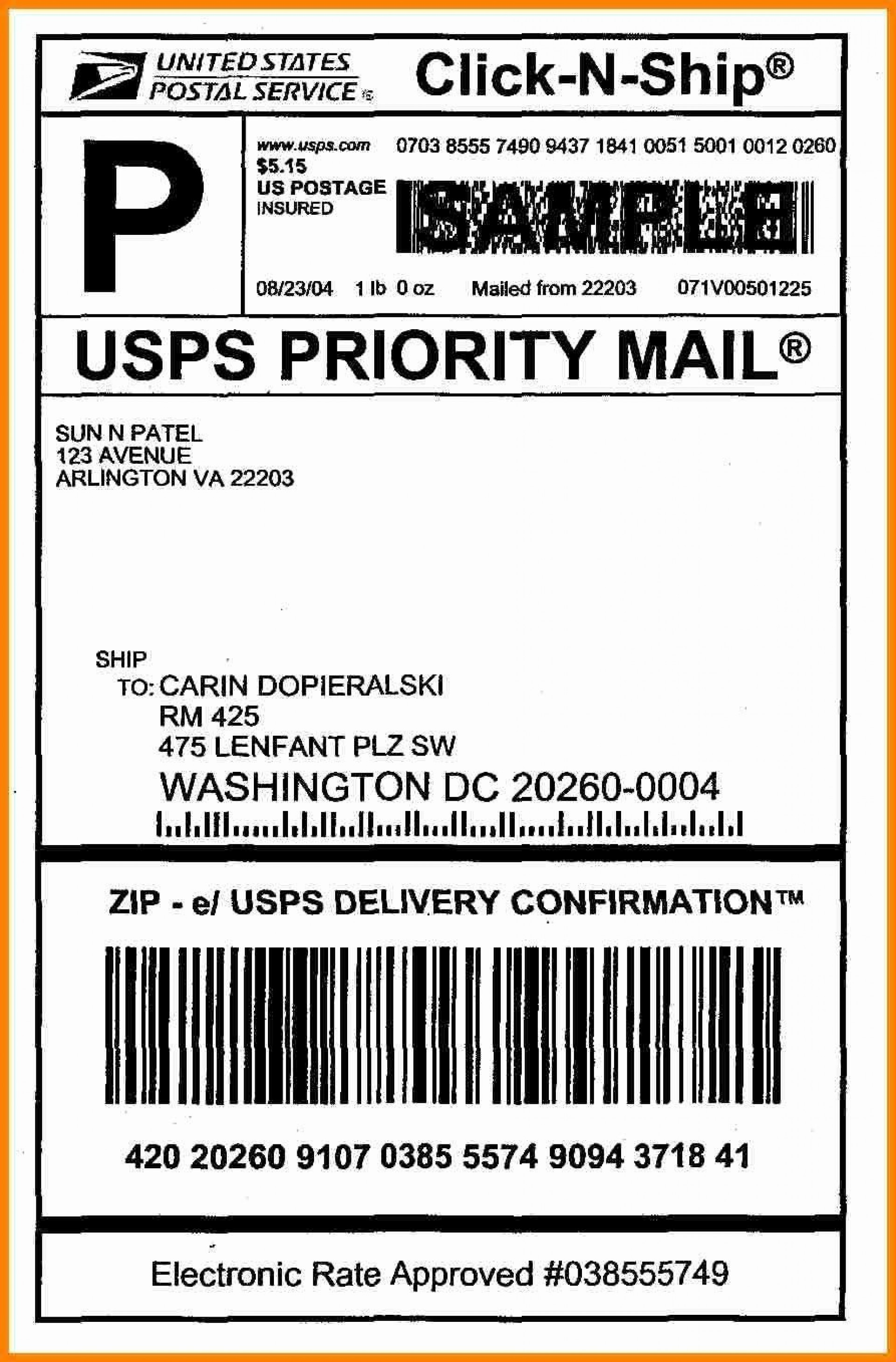 006 Best Free Usp Shipping Label Template Highest Clarity 1920