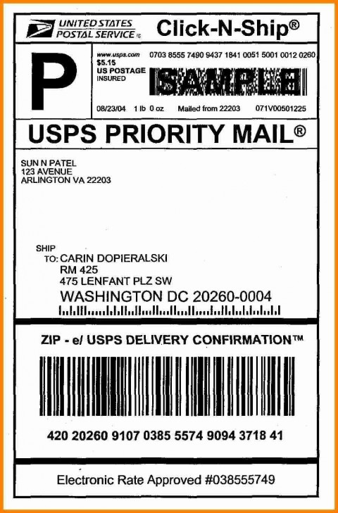 006 Best Free Usp Shipping Label Template Highest Clarity 480