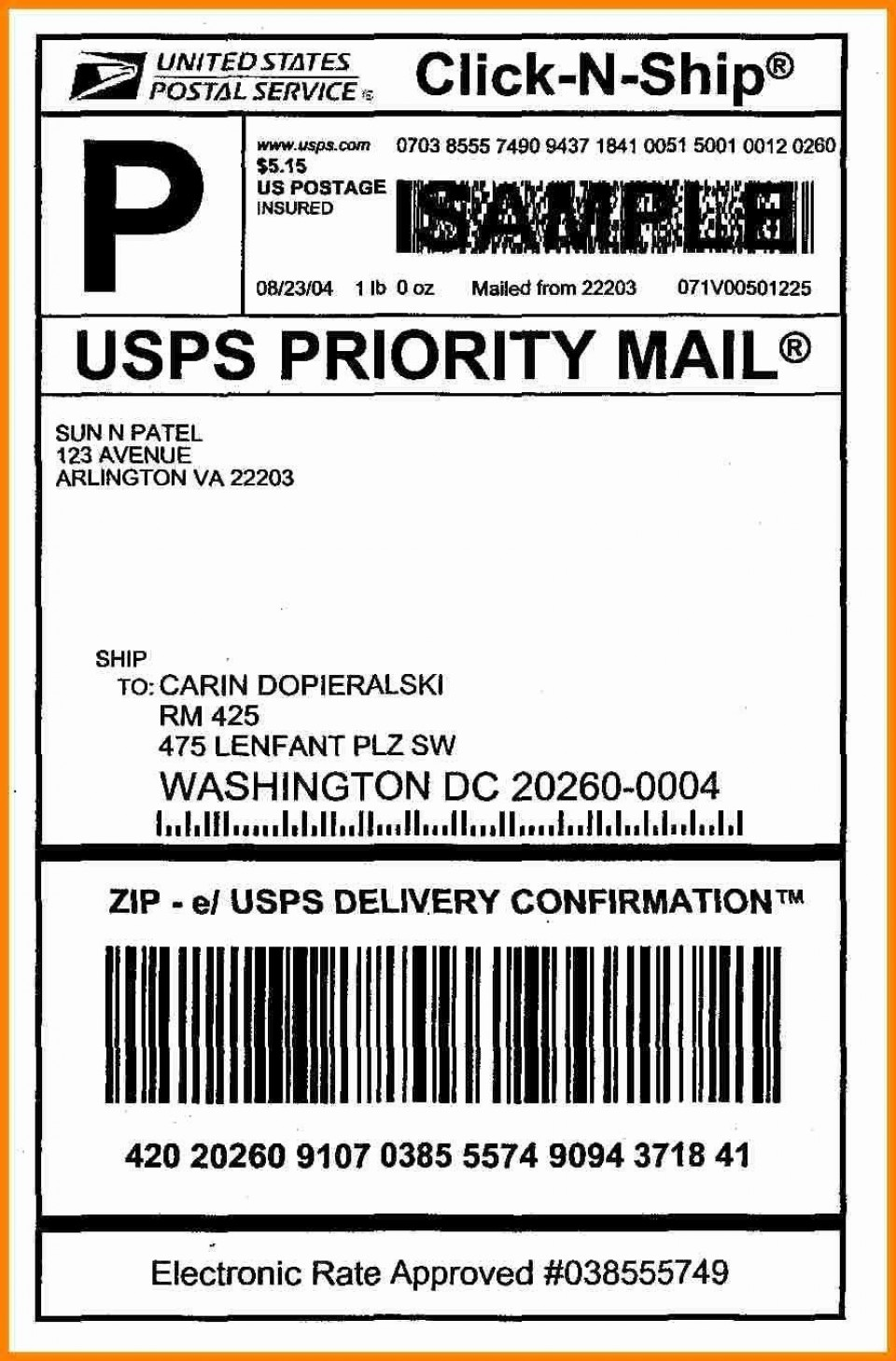 006 Best Free Usp Shipping Label Template Highest Clarity 960
