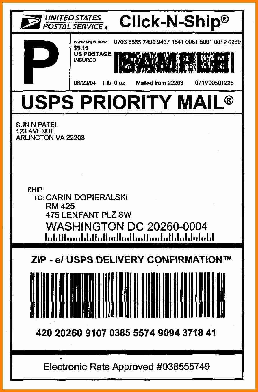006 Best Free Usp Shipping Label Template Highest Clarity Full