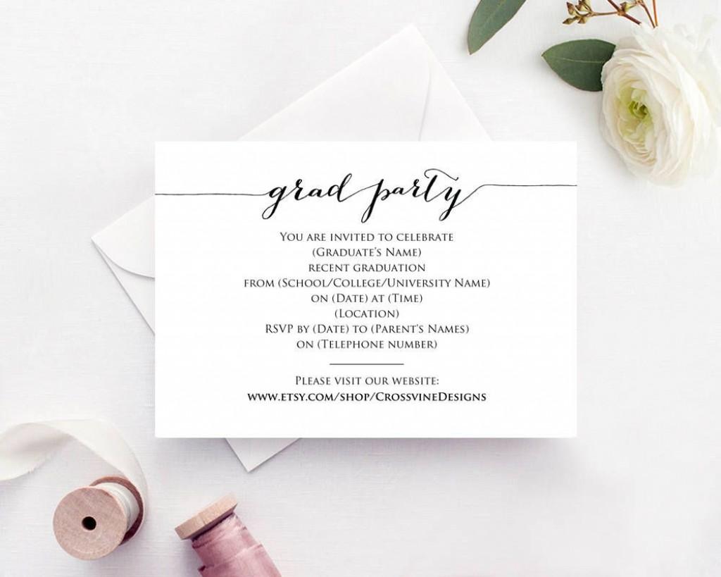 006 Best Graduation Party Invitation Template Design  Templates 4 Per Page Free ReceptionLarge