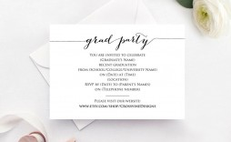 006 Best Graduation Party Invitation Template Design  Templates 4 Per Page Free Reception
