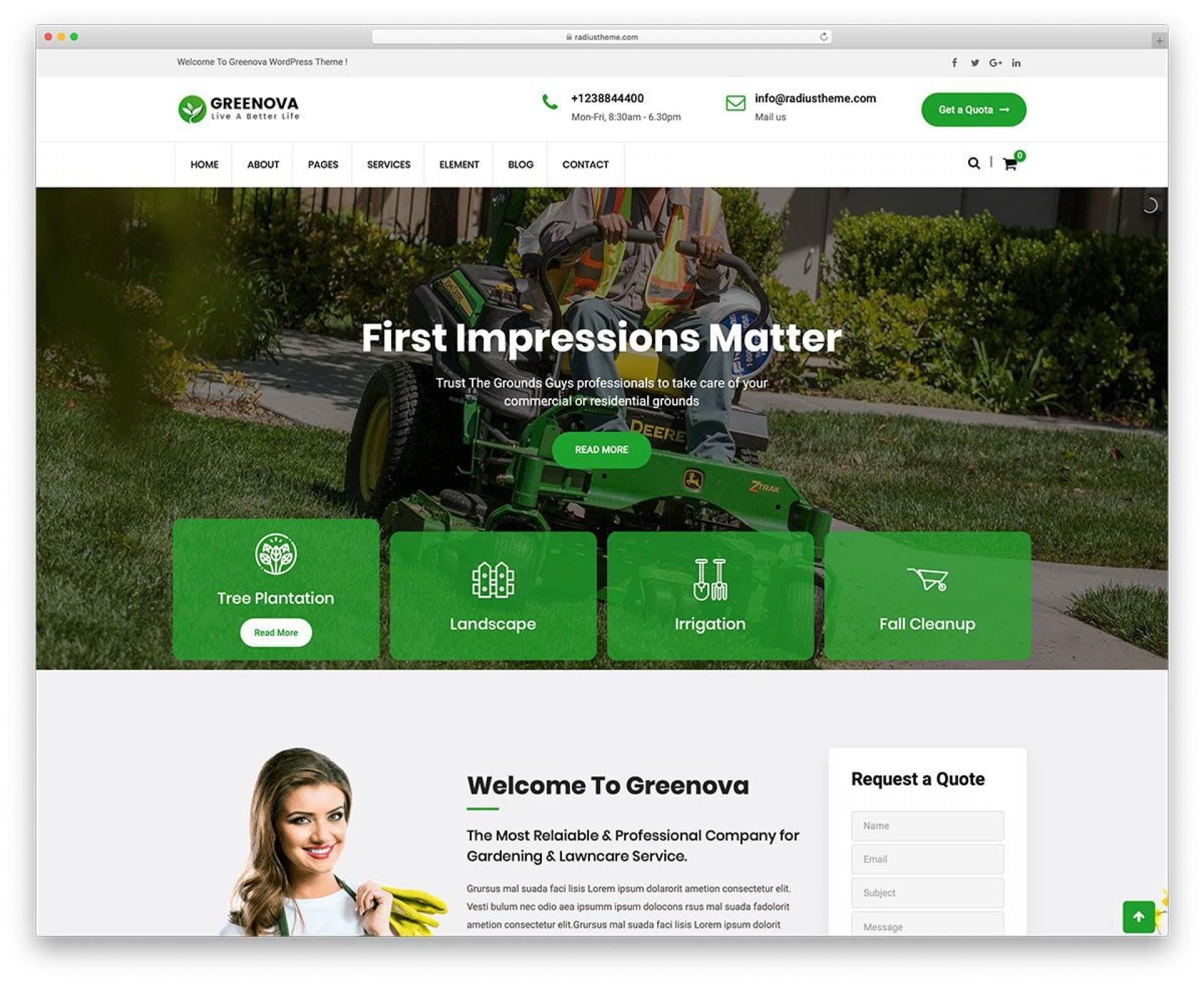 006 Best Lawn Care Website Template Sample 1920