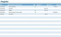 006 Best Microsoft Excel Checkbook Template Image  2010 Register