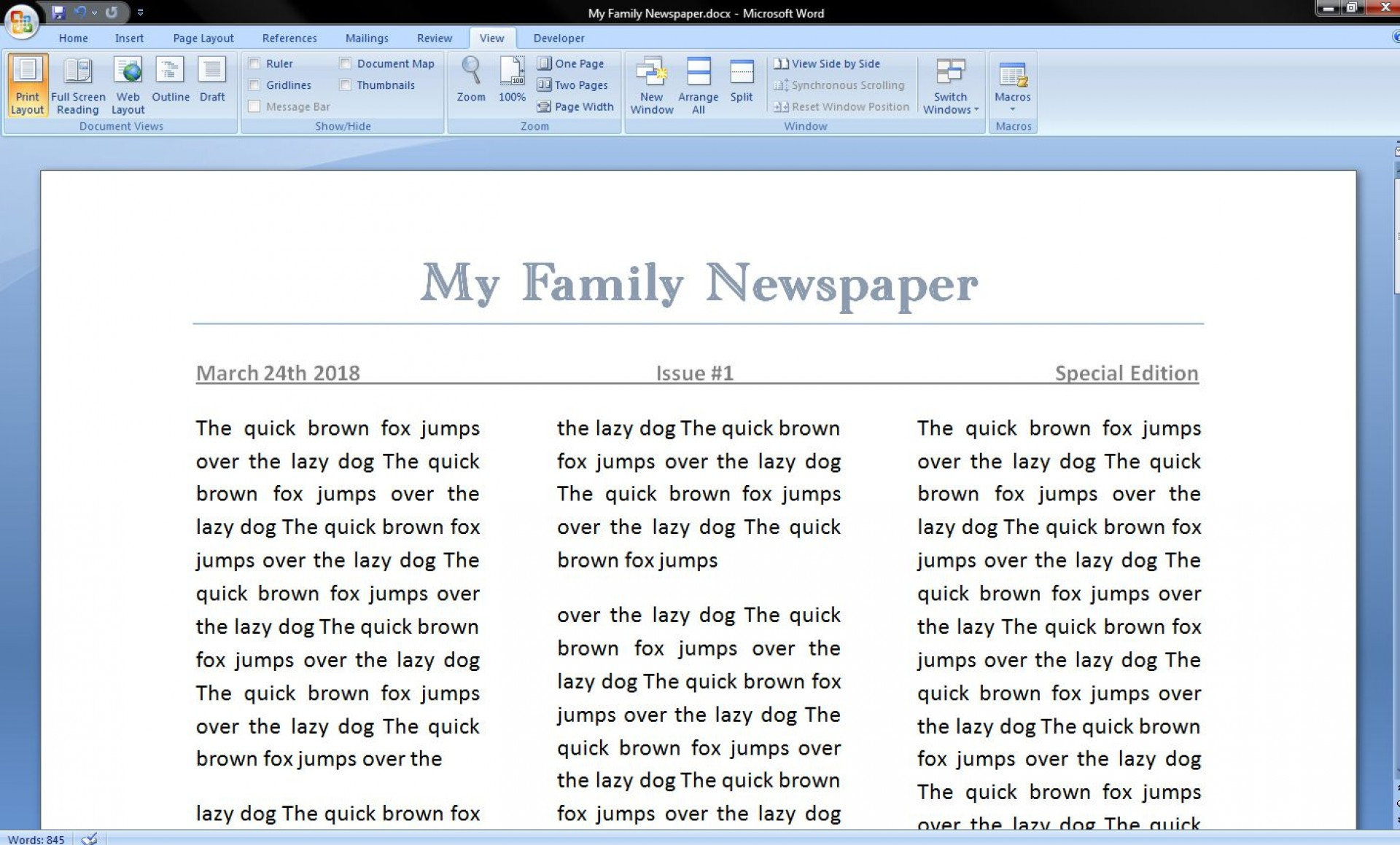 006 Best Microsoft Word Newspaper Template Example  Vintage Old Fashioned1920