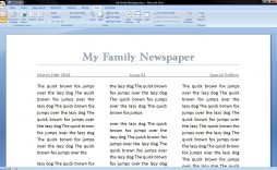 006 Best Microsoft Word Newspaper Template Example  Free Old Download Fashioned