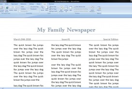 006 Best Microsoft Word Newspaper Template Example  Vintage Old Fashioned