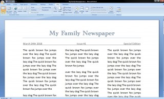 006 Best Microsoft Word Newspaper Template Example  Vintage Old Fashioned320