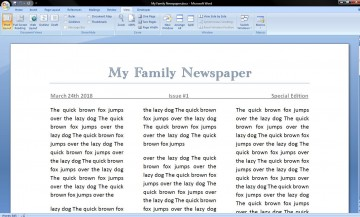 006 Best Microsoft Word Newspaper Template Example  Vintage Old Fashioned360