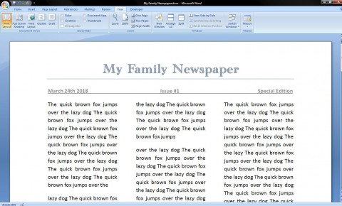 006 Best Microsoft Word Newspaper Template Example  Vintage Old Fashioned480
