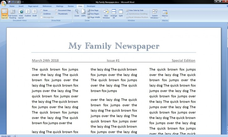 006 Best Microsoft Word Newspaper Template Example  Vintage Old Fashioned728