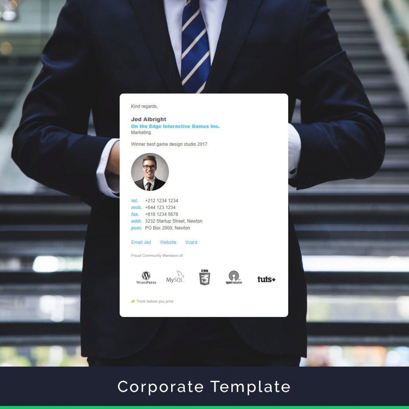 006 Best Professional Email Signature Template High Resolution  Busines Download1400