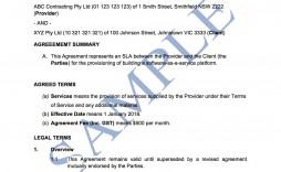 006 Best Service Level Agreement Template Concept  South Africa Nz For Website Development