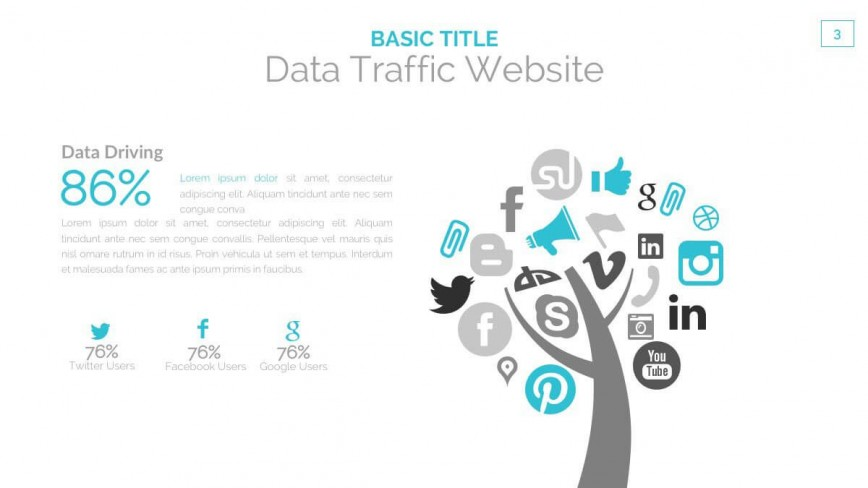 006 Best Social Media Ppt Template Free Picture  Report Powerpoint Download