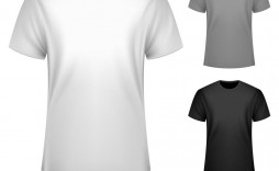 006 Best T Shirt Template Vector High Resolution  Black Front And Back Free Download Illustrator
