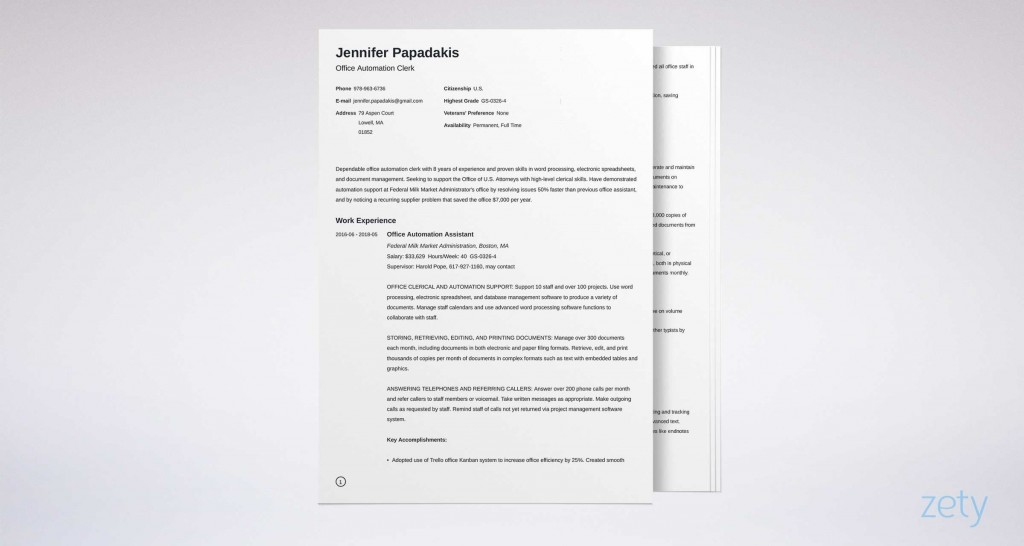 006 Best Usa Job Resume Template High Def  Builder Usajob FederalLarge