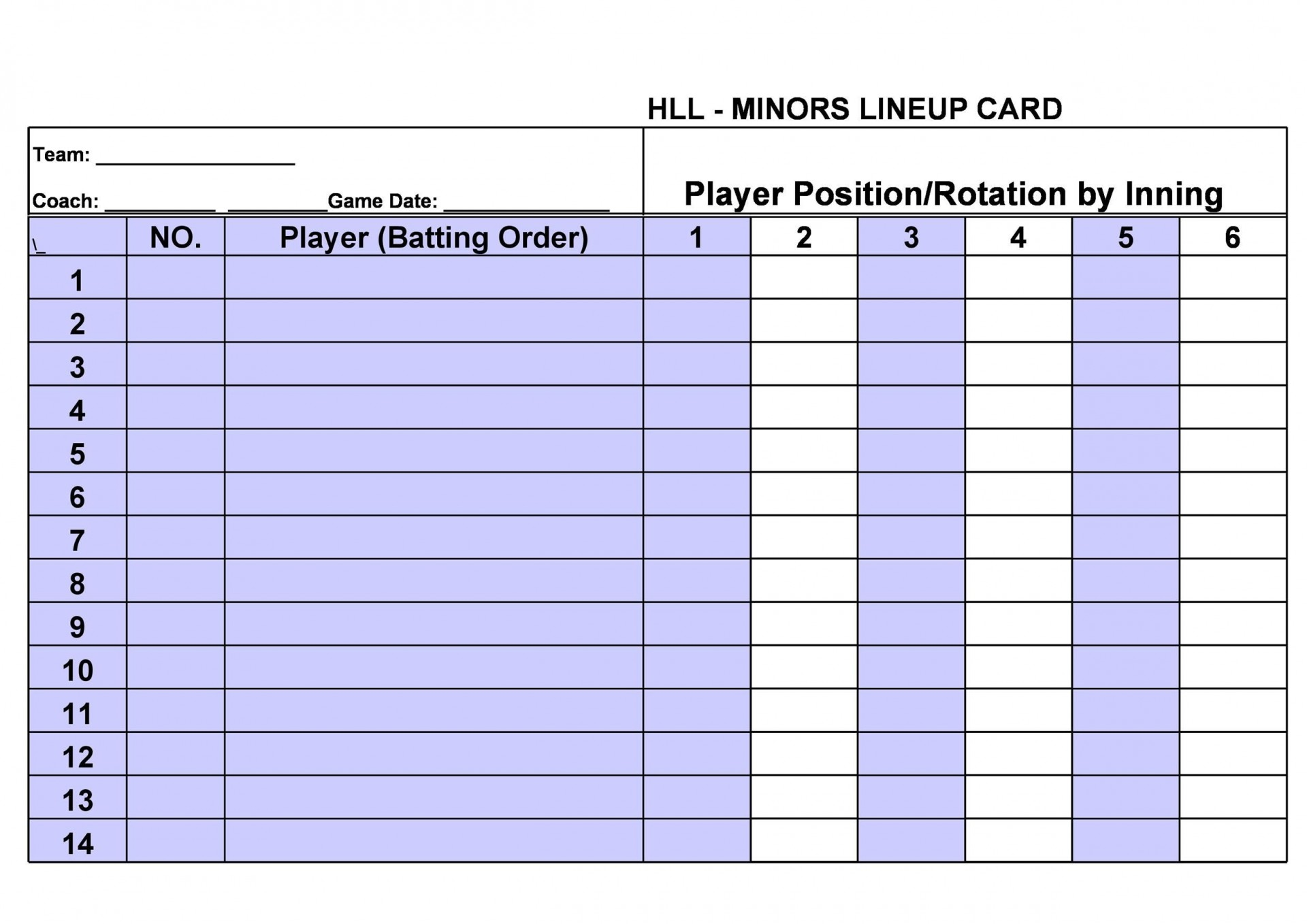 View 21 Inning Baseball Lineup Template Background : Fill, Sign And In Free Baseball Lineup Card Template
