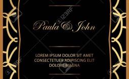 006 Breathtaking Black And Gold Invitation Template Idea  Design White Free Printable