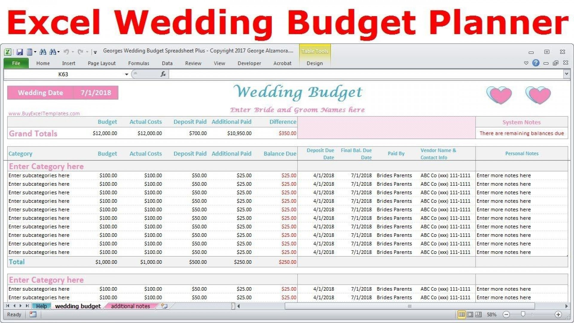 006 Breathtaking Budget Tracker Excel Template Picture  Wedding Personal Expense Free Project1920