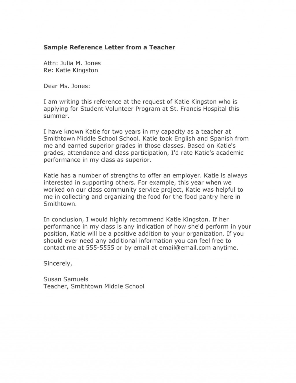 006 Breathtaking College Letter Of Recommendation Template Image  Writing Scholarship From EmployerLarge