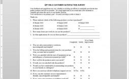 006 Breathtaking Customer Satisfaction Survey Template Word Example  Doc Form