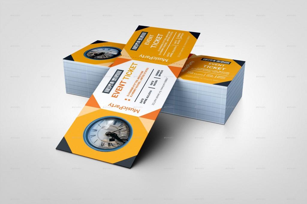 006 Breathtaking Event Ticket Template Photoshop Highest Quality  Design Psd Free DownloadLarge