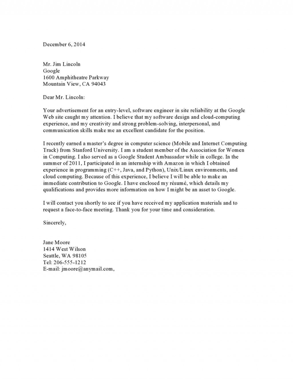006 Breathtaking Excellent Covering Letter Example  ExamplesLarge