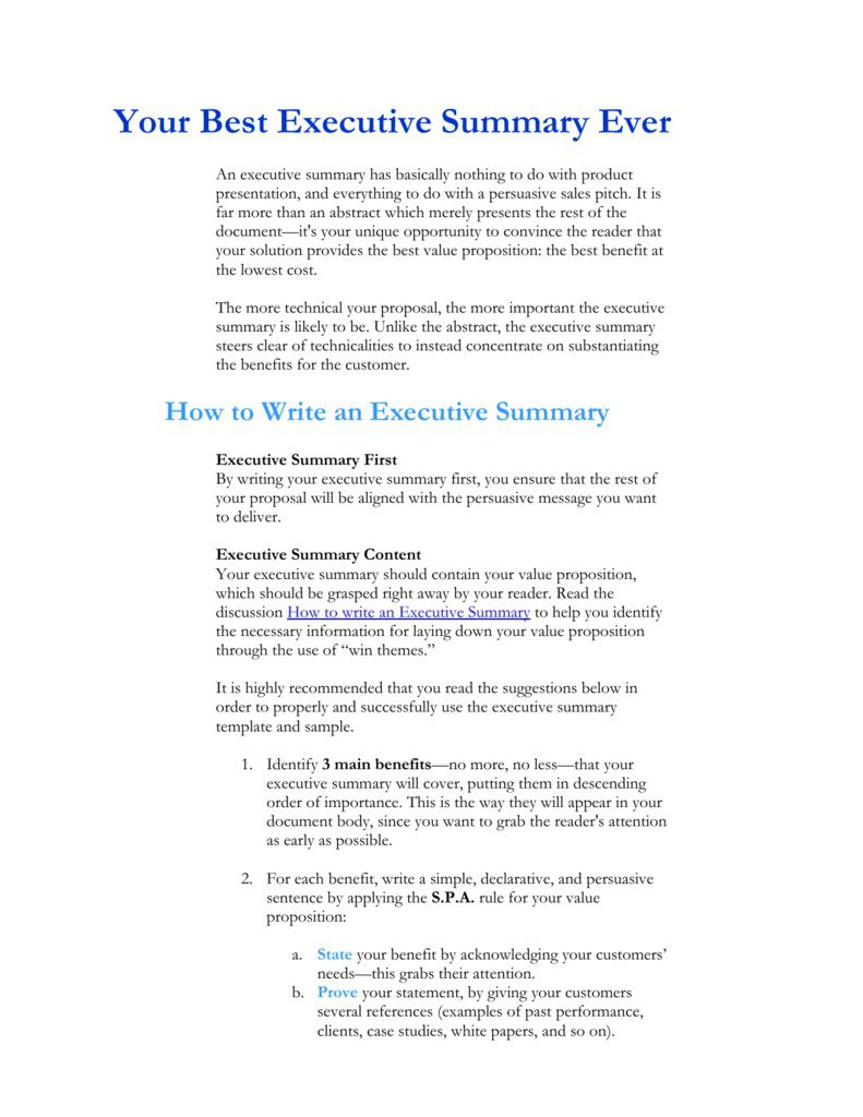 006 Breathtaking Executive Summary Template For Proposal. Image  Sample Proposal Pdf ProjectFull