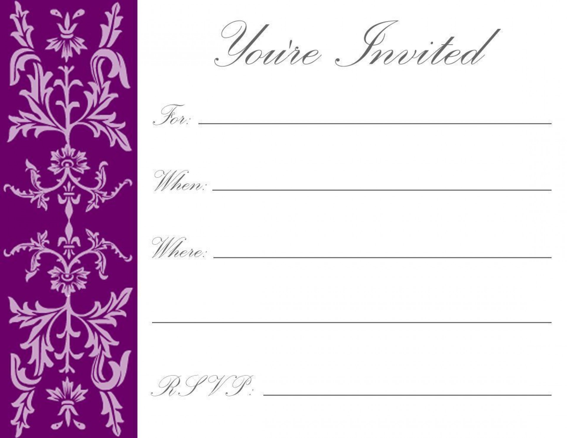 006 Breathtaking Free Online Printable Birthday Invitation Template High Definition  Templates Card Maker1920