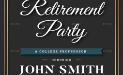 006 Breathtaking Free Retirement Invitation Template Sample  Templates Microsoft Word Party Flyer