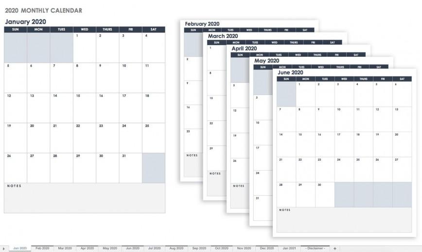006 Breathtaking Google Sheet Calendar Template High Resolution  Templates 2020-21 Monthly 2020