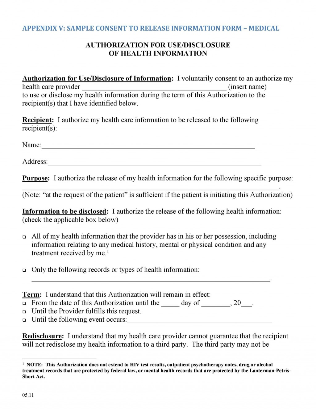 006 Breathtaking Medical Record Release Form Template Photo  Request Free PersonalLarge