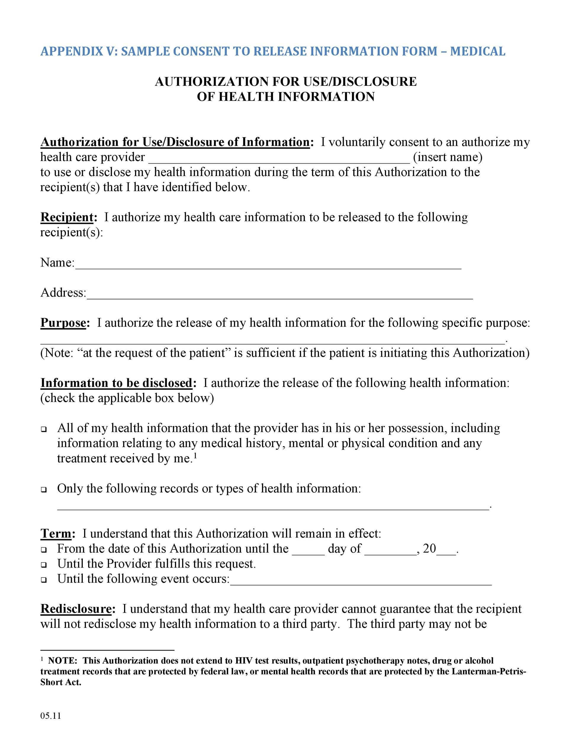 006 Breathtaking Medical Record Release Form Template Photo  Request Free PersonalFull