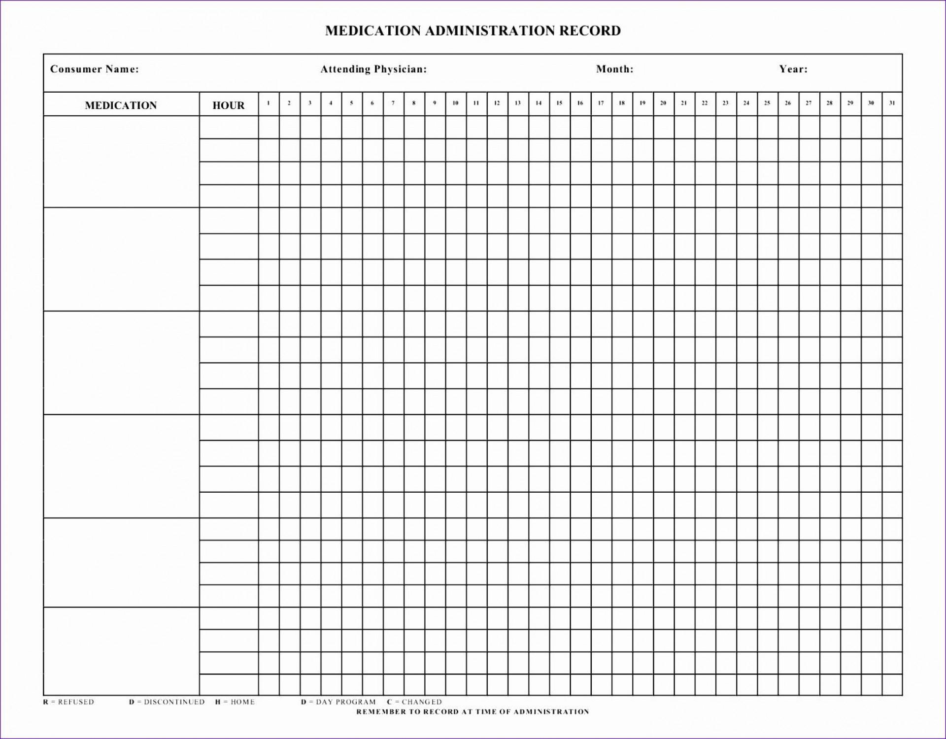 006 Breathtaking Medication Administration Record Template Excel Sample  Monthly1920