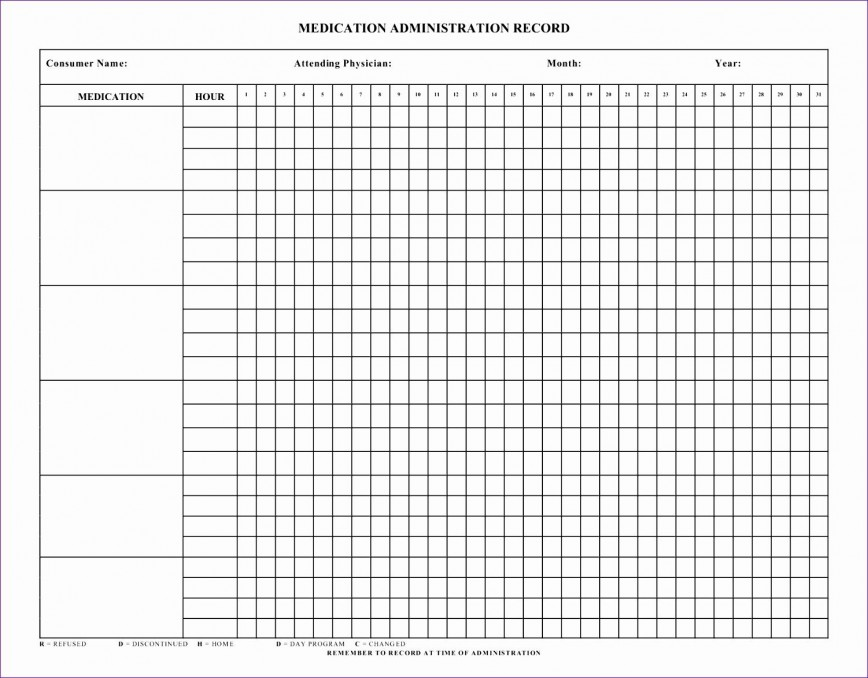 006 Breathtaking Medication Administration Record Template Excel Sample  Monthly