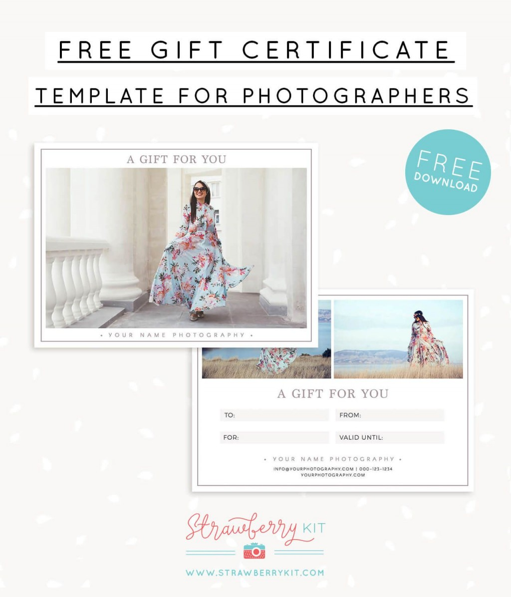 006 Breathtaking Photography Gift Certificate Template Photoshop Free Example Large