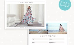 006 Breathtaking Photography Gift Certificate Template Photoshop Free Example
