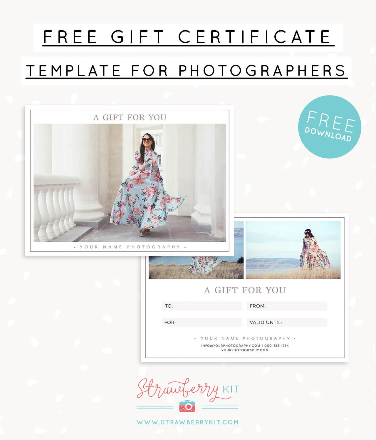 006 Breathtaking Photography Gift Certificate Template Photoshop Free Example Full