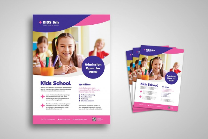 006 Breathtaking School Open House Flyer Template Idea  Elementary Free Word728