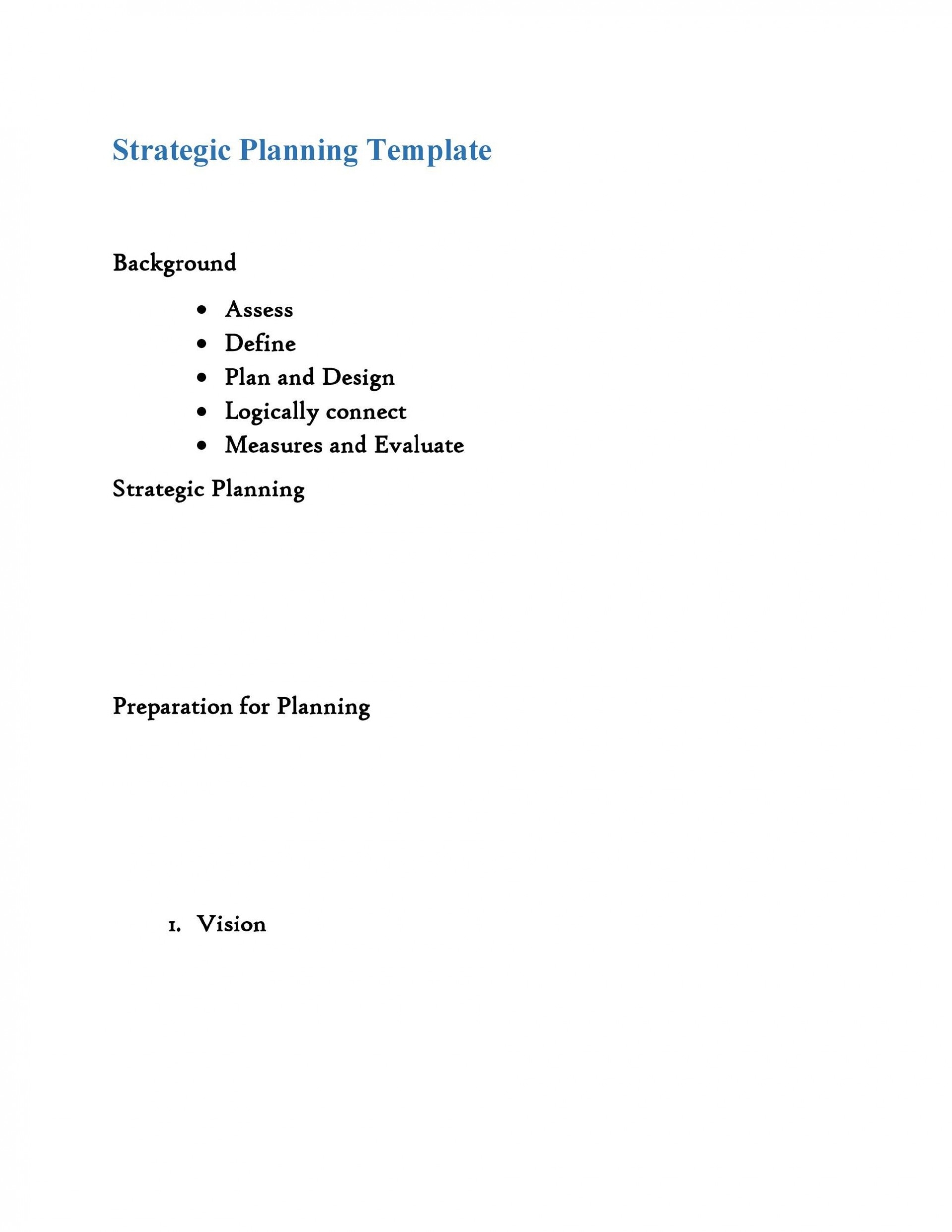 006 Breathtaking Strategic Plan Outline Template Example  Marketing1920