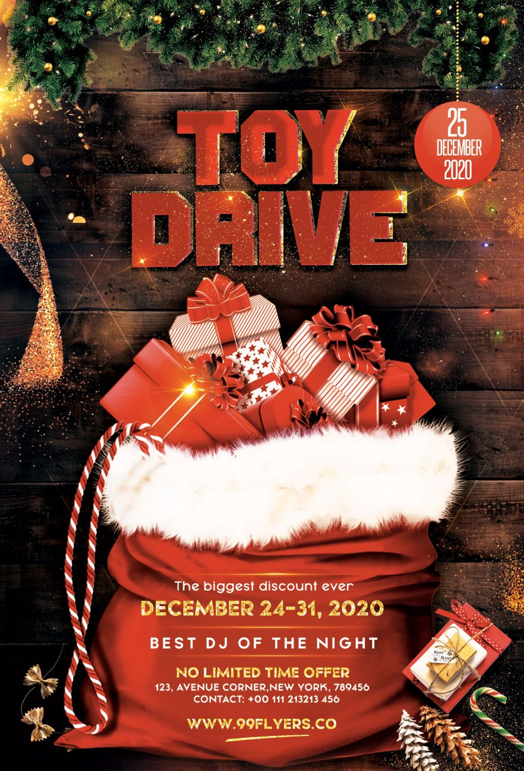 006 Breathtaking Toy Drive Flyer Template Picture  Holiday Download Free WordLarge