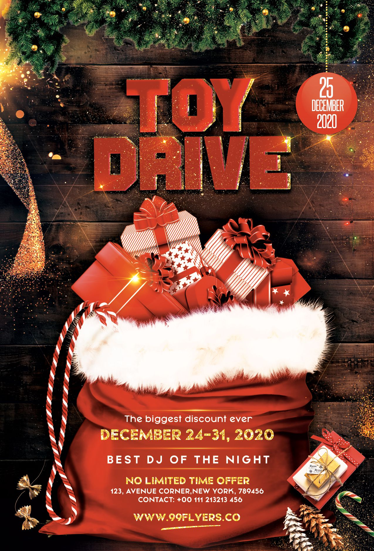006 Breathtaking Toy Drive Flyer Template Picture  Holiday Download Free WordFull
