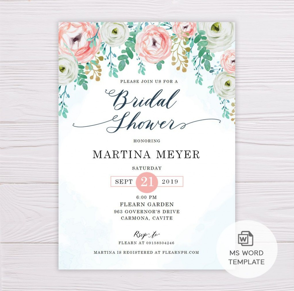006 Breathtaking Wedding Shower Invitation Template Highest Quality  Templates Bridal Pinterest Microsoft Word Free ForLarge